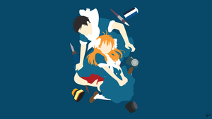 Gekkan Shoujo Nozaki-kun Minimalist Wallpaper by greenmapple17