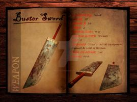 Final Fantasy 7 weapon book (Buster Sword) by Hellfalcon666