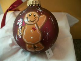 Ginger Bread Man ChristmasBall (FOR SALE) by CreationLady