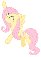Fluttershy Vector by WillowTails