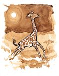 Coffee Giraffe by MaryDoodles