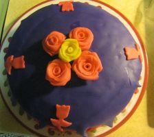 First Fondant cake 2 by SLEC-EqIsMyLife