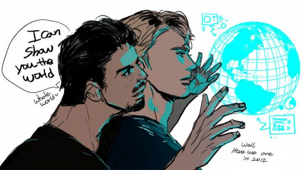 tony and steve in 2012 by jsnart-dv