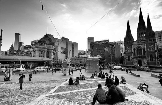 Federation Square by kate-art