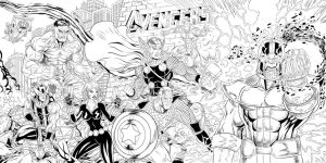 The Avengers Ink Cover by SWAVE18