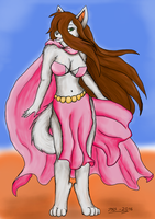 Beauty in loincloth and cape by SirKiljaos