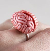 Mmmm Brains Ring by NeverlandJewelry
