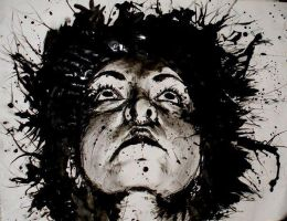 Looking Up, India Ink by Noreiarain