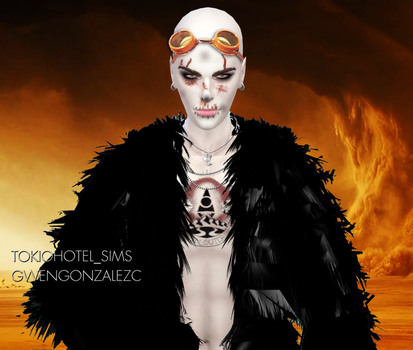 Bill Kaulitz Sims 4 MadMax Nux Sims 4 Halloween by GwenGC