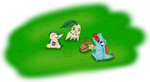 Totodile eating all the fruits during picnic by TheLittlelight