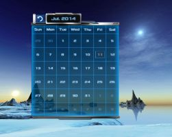 Space Calendar HQ for xwidget by jimking