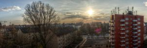 Hamburg Sunset HDR Panorama by TiKy2010