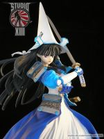 Uesugi Kenshin (Rance) garage kit - close-up view by Michael-XIII