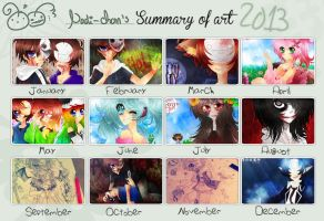Nadi-Chan's: Summary of art [2013] by Nadi-Chan