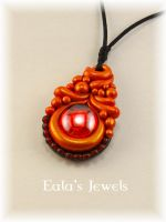 Red passion stone pendant by Shatiel85