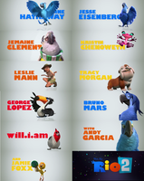 Rio 2 Characters by VincentAricaya