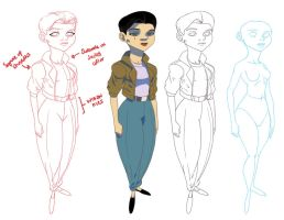 Model Sheet: Genevieve 2 by HughFreeman