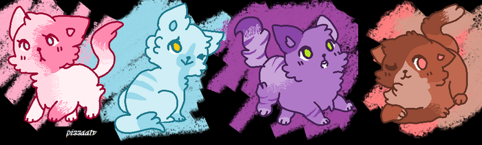 Color kittys adoptables CLOSED [4/4] by PizzaaTv
