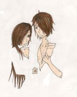 Twins:: White by CanadianGothStalker