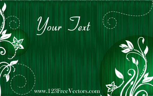 Vector Green Floral Text Banner by 123freevectors
