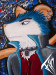 Fips Oil Painting - Closeup by oOFipsOo