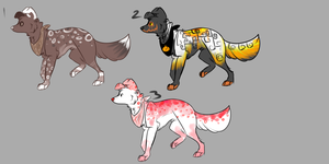 Dog Adoptables by Tybirius
