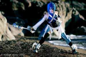 Aqua fight by KICKAcosplay