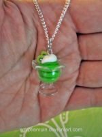 Lime Kiwi Sorbet Necklace by egyptianruin