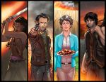 Walking Dead Panel Grouping by RichBernatovech