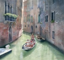 Traveling through Venice by GreeGW