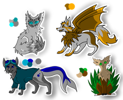 Adoptables! (OPEN) 15 - 30 Points! by thedoomedkitteh