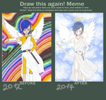 meme  before and after Blue Angel by Loriblackangelsnow