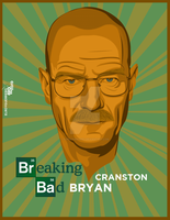 Bryan Cranston - breaking bad vexel by elroyguerrero
