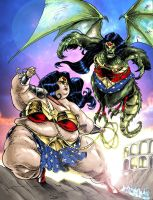 Battle of the Wonder Woman by Knightmare10880