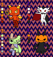 Halloween themed adoptable batch- open by to-much-a-thing