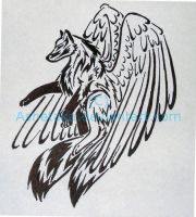 Tribal wolf Tattoo design by ashetaka