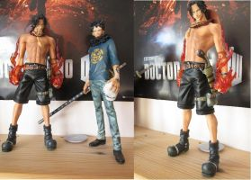 My One Piece figures, Ace and Law by MoonSnake12