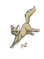 Pose in leap mode Bright tail! by Warriocat12