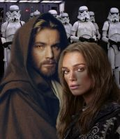 What If Sabe and Obi Wan by violetofviolence