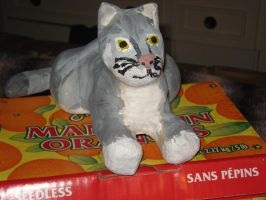 Paper Mache Cat by Lyndsey-Catastrphe