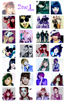 2NE1 Icons02 by TsukiNita