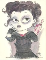 Chibi-Mrs. Lovett. by hedbonstudios