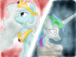 NATGIII: Day 9: Princess Screwloose/Crazy Celestia by MaikeruTo