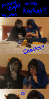 john and karkat: movie night by jessiepup260