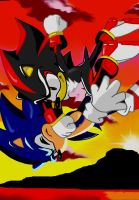 Sonic vs Shadow by NiniBarbossa
