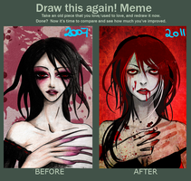 Meme - Draw this again by punkypeggy