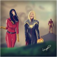 Carol and Jess by Hulk by nottonyharrison