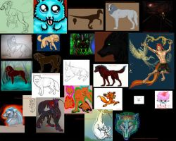 The huge wall of art wips by TheTyro