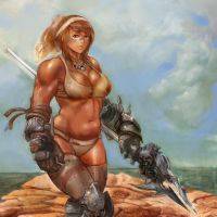 Battle Babe Number 18 by GeniusFetus