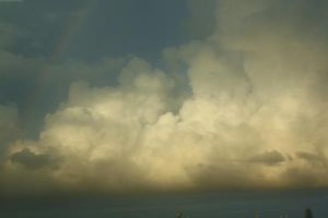 Clouds with Rainbow by mirandaadria-stock
